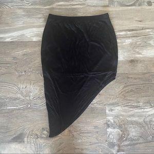 Helmet asymmetrical skirt